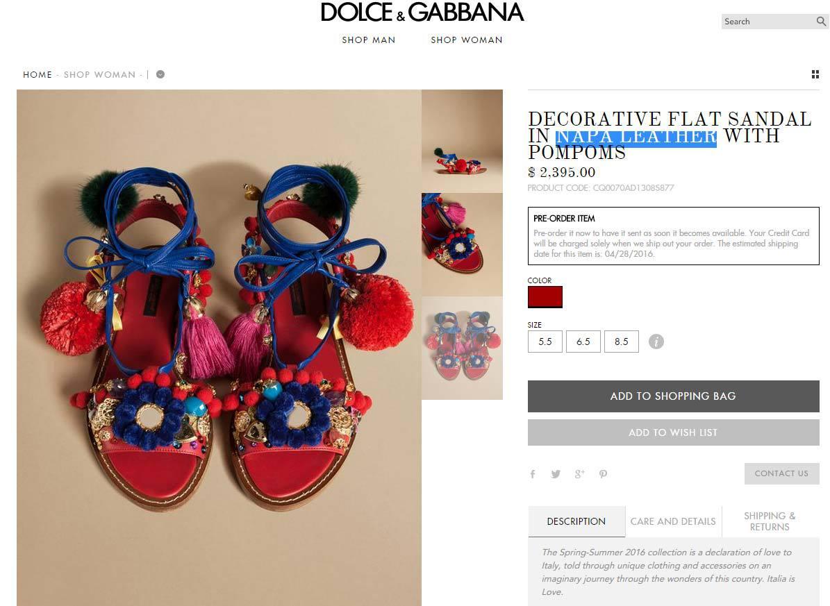Dolce   Gabbana crée la polémique avec des sandales