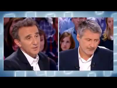 Elie Semoun se bat en direct sur le plateau du Grand Journal