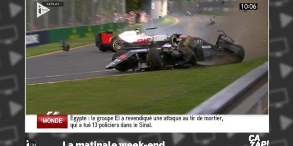 Un accident spectaculaire au Grand prix d'Australie