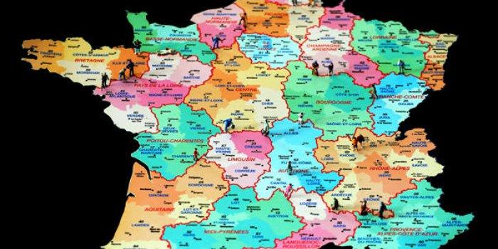 La carte des départements — Déconfinement en France