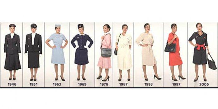 85 Ans D Air France L Evolution Des Tenues Des Hotesses De L Air