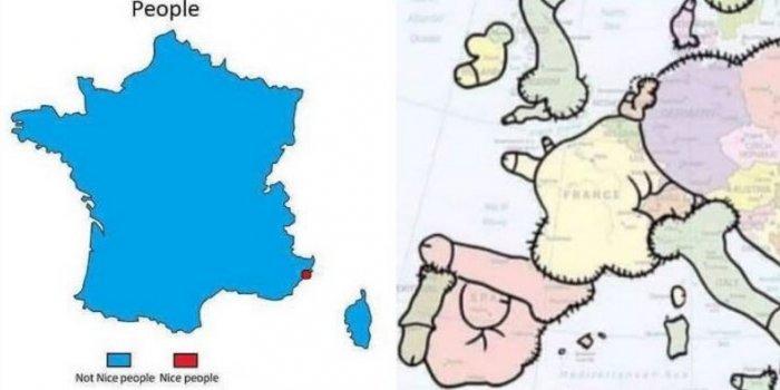 Humour Les Cartes De France Vues D Une Maniere Drole Et Insolite