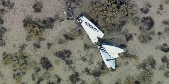 SpaceShipTwo de Virgin Galactic : les images du crash