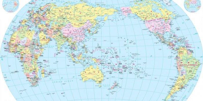 carte du monde australie